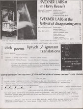 Load image into Gallery viewer, Festival of Disappearing Arts, Baltimore, 1979: Flyer and Poster