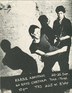 Karole Armitage/Rhys Chatham at TR3 Club, [1980]