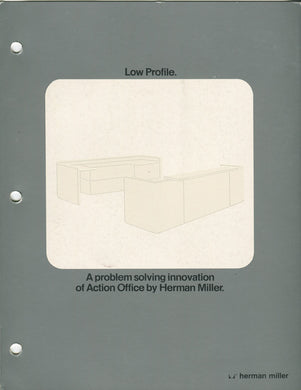 HERMAN MILLER ACTION OFFICE BROCHURE: LOW PROFILE