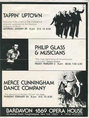 Merce Cunningham/Philip Glass/Honi Coles at Bardavon 1869 Opera House, Poughkeepsie, N.Y. [1983]