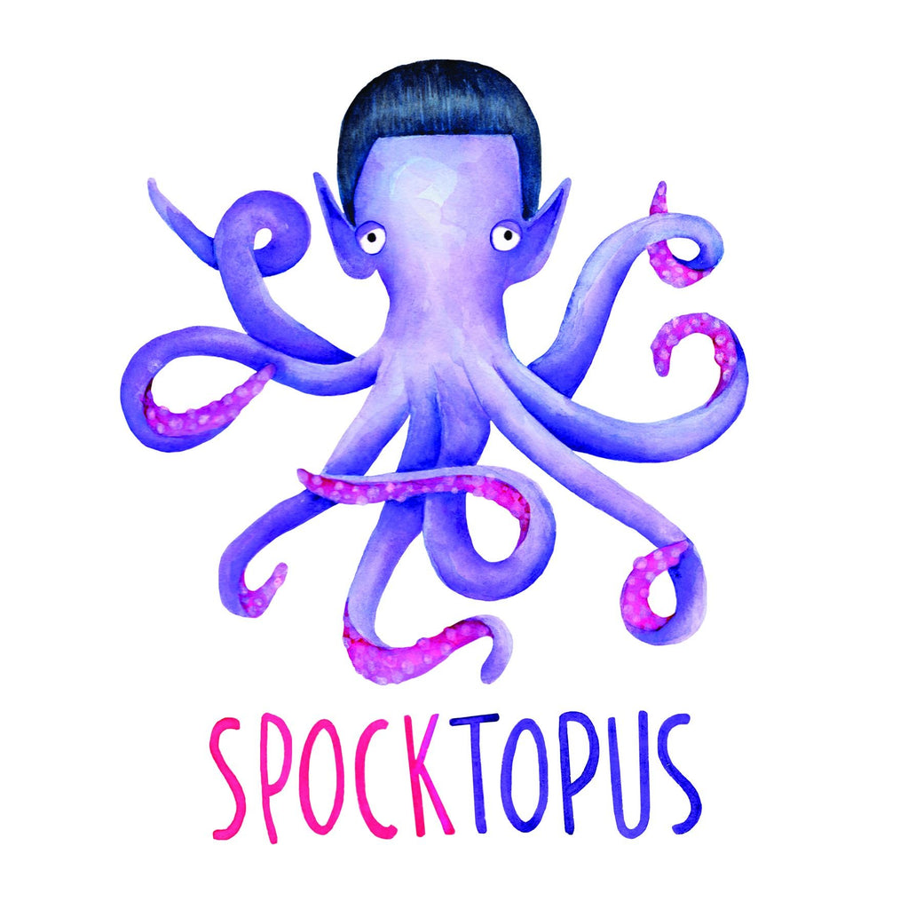 Spoktopus Funny Fathers Day Card With octopus design