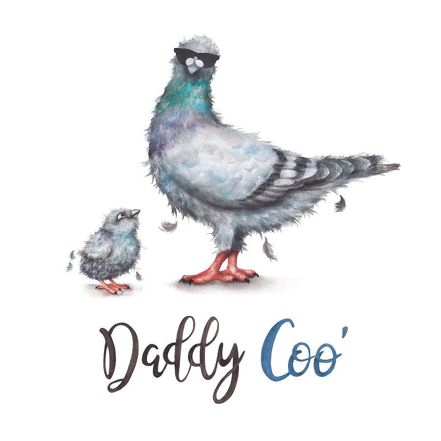 Daddy Coo Funny Fathers Day Card With Pigeons