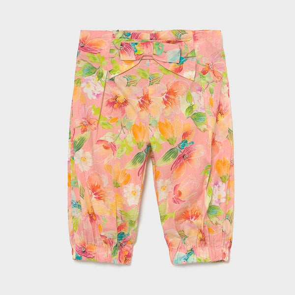 Girls Clothing Floral Print Coral Trousers