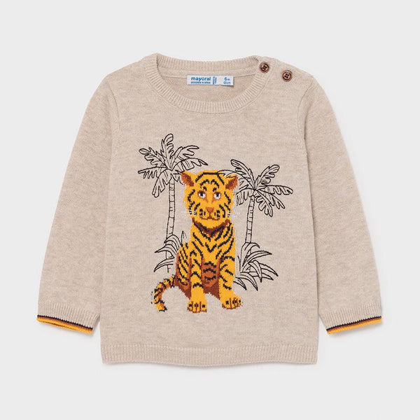Roarsome Tiger Sweater by Mayoral