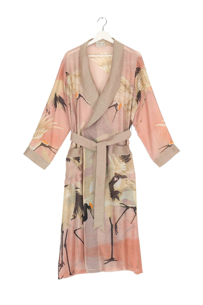 One Hundred Stars Gown With Pink Stork Design