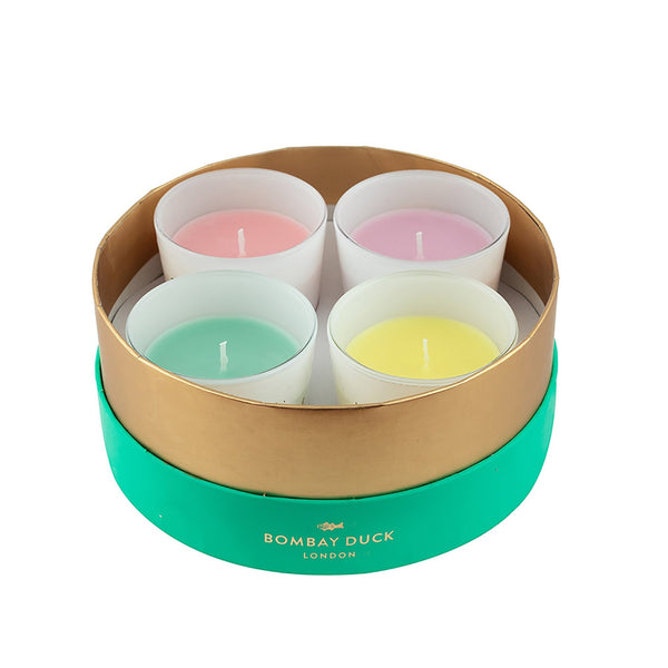 Bombay Duck set of 4 candles in a box