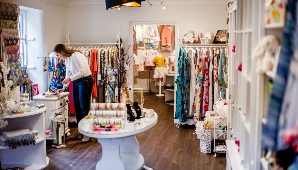 Inside The Owl & The Pussycat Boutique in Hampshire