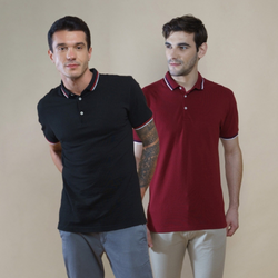 Pack of 2 Polo T-shirts (Black and Maroon)