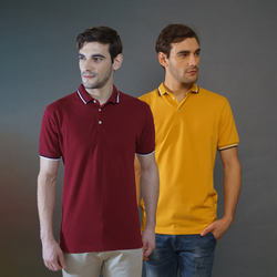 Pack of 2 Polo T-shirts (Maroon and Mustard)