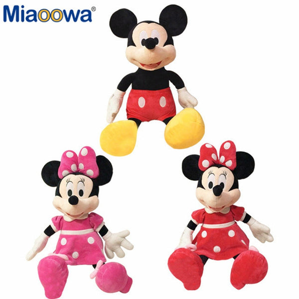 Mickey y Minnie Mouse peluches