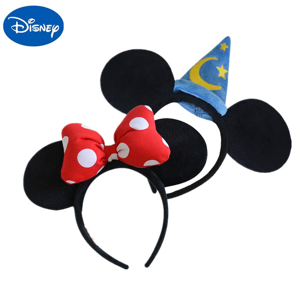 Tocado de felpa original de Disney Toy Mickey Minnie Mouse