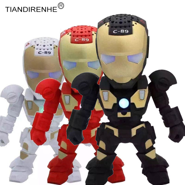 New Bluetooth Iron Man Mini Speaker Portable WirelessUSB MP3 for PC