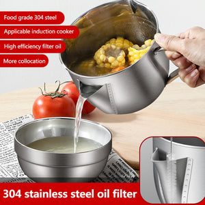 304 Stainless Steel Oil Filter Pot - 50% Off Free Shipping Today!