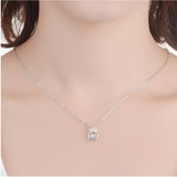 Crown Inlaid Diamond Necklace Non Tarnish - 45% Off & Free Shipping!