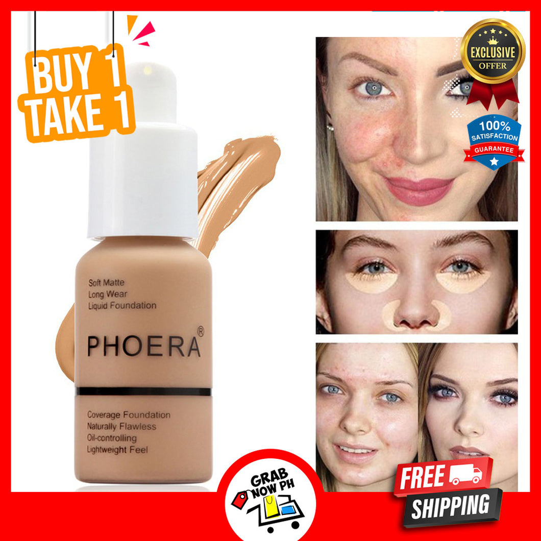 Original Phoera  Liquid Matte Facial Foundation Whitening Concealer