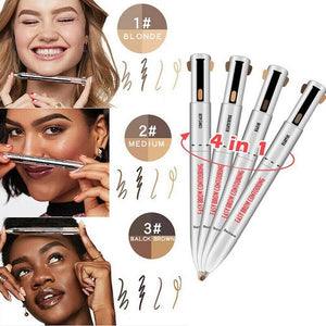 Original 4-in-1 Waterproof Brow Contour & Highlight Pen with FREE Jade Roller (FREE SHIPPING) 50% OFF TODAY!
