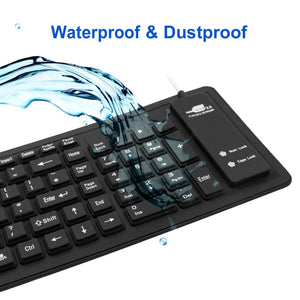 Waterproof & Flexible Keyboard - BUY 1 TAKE 1 Today! (BLACK ONLY)