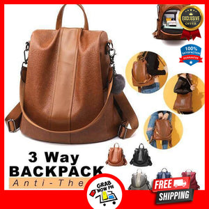 3 WAY ANTI THEFT WOMEN WATERPROOF BAGPACK - 50% Off Today & FREE SHIPPING!
