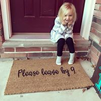 Please Leave by 9- Doormat