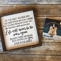 On the night you were born- quote, nursery art