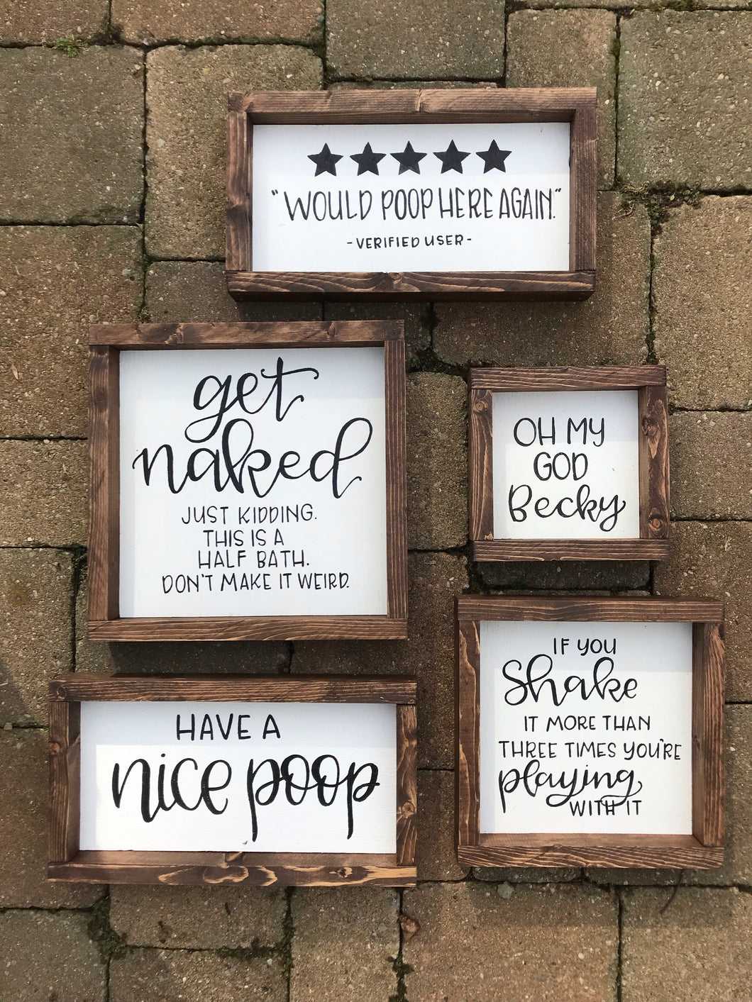 Get naked- bathroom sign