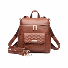 Load image into Gallery viewer, Petit Monaco Diaper Bag | Caramel Brown