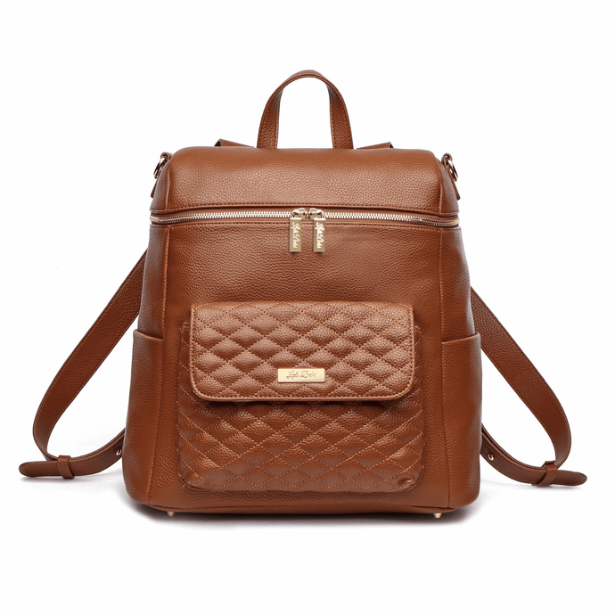 Monaco Diaper Bag | Caramel Brown