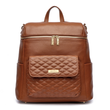 Load image into Gallery viewer, PRE ORDER  Monaco Diaper Bag | Caramel Brown