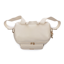 Load image into Gallery viewer, PRE-ORDER Tara Henderson x Luli Bebé Monaco Diaper Bag | Pearl White