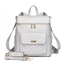 Load image into Gallery viewer, Monaco Diaper Bag | Stone Grey