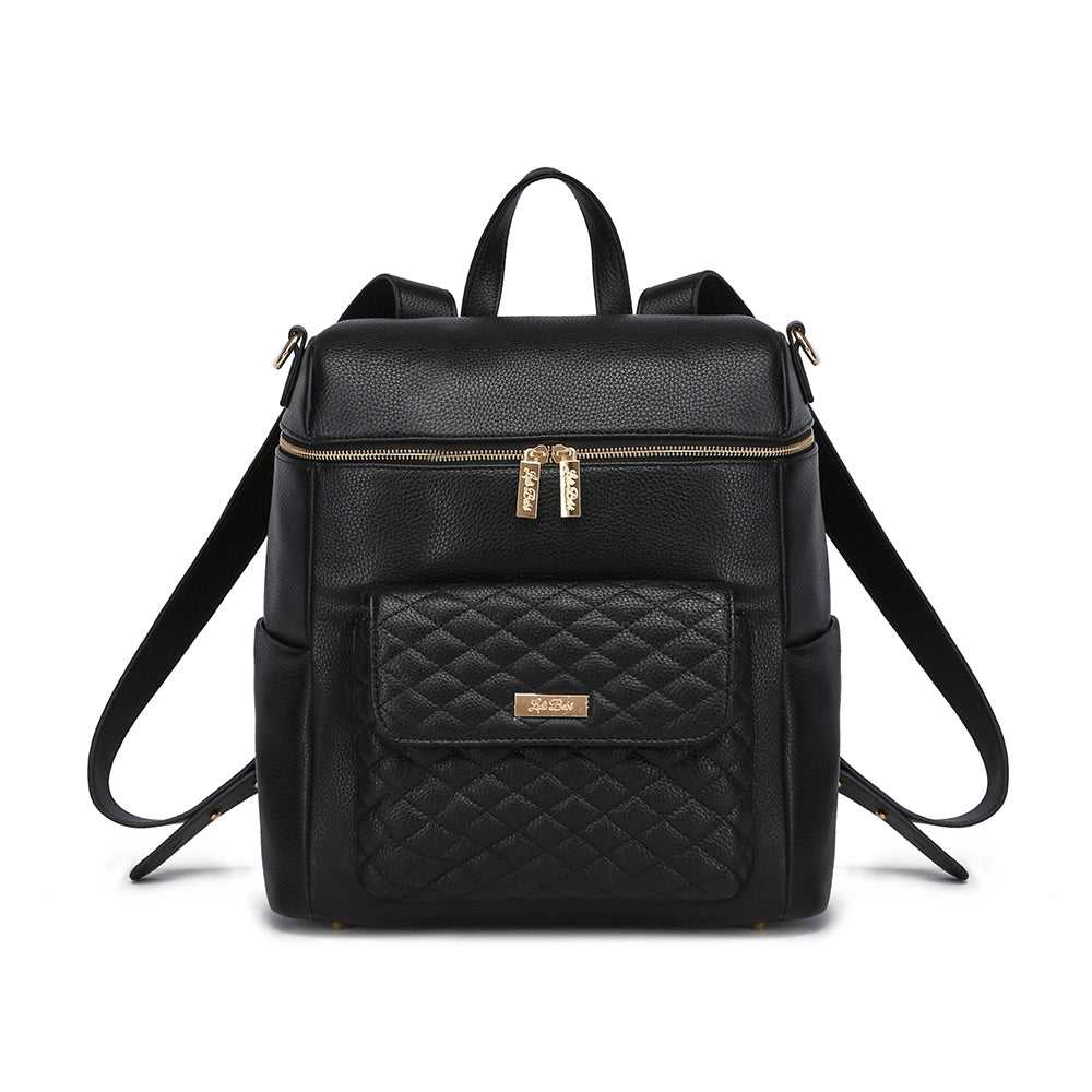 Monaco Diaper Bag | Ebony Black
