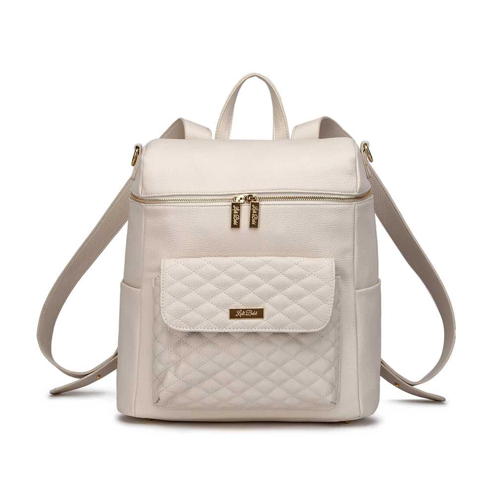 Monaco Diaper Bag | Pearl White