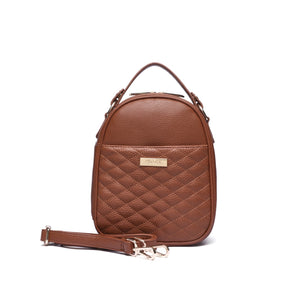 Monaco Snack Bag in Caramel Brown
