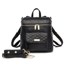 Load image into Gallery viewer, Petit Monaco Diaper Bag | Ebony Black