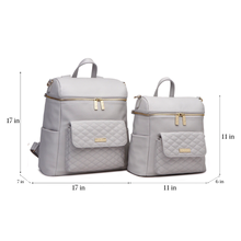 Load image into Gallery viewer, Petit Monaco Diaper Bag | Stone Grey