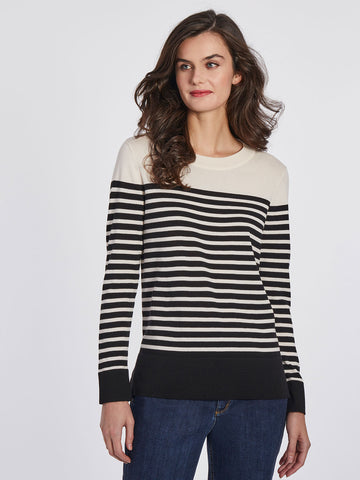 Striped Knit Pull-Over Sweater