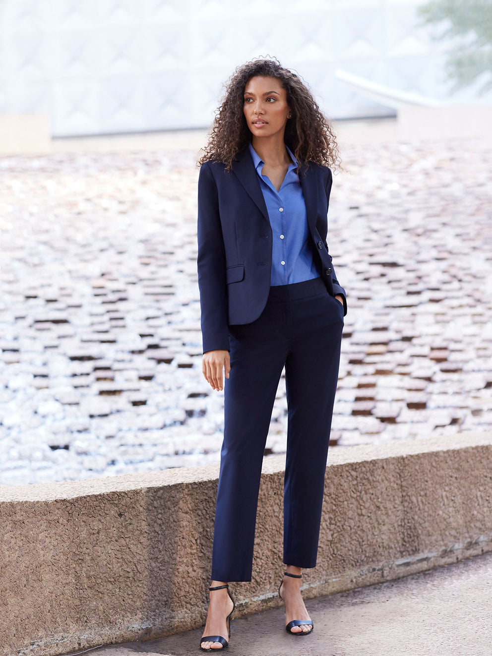 The Jones New York Washable Sydney Pant in color Navy - Image Position 2