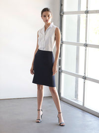 The Jones New York Washable Pencil Skirt in color Navy - Image Position 2