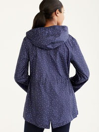 The Jones New York Packable Rain Jacket in color Navy Dots - Image Position 3