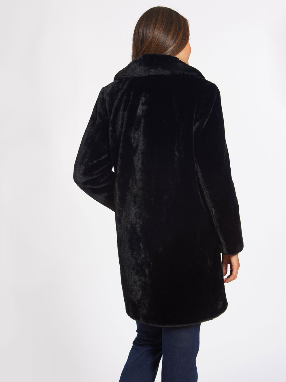 The Jones New York Faux Fur Jacket in color Black - Image Position 4