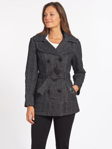Fleece Pea Coat