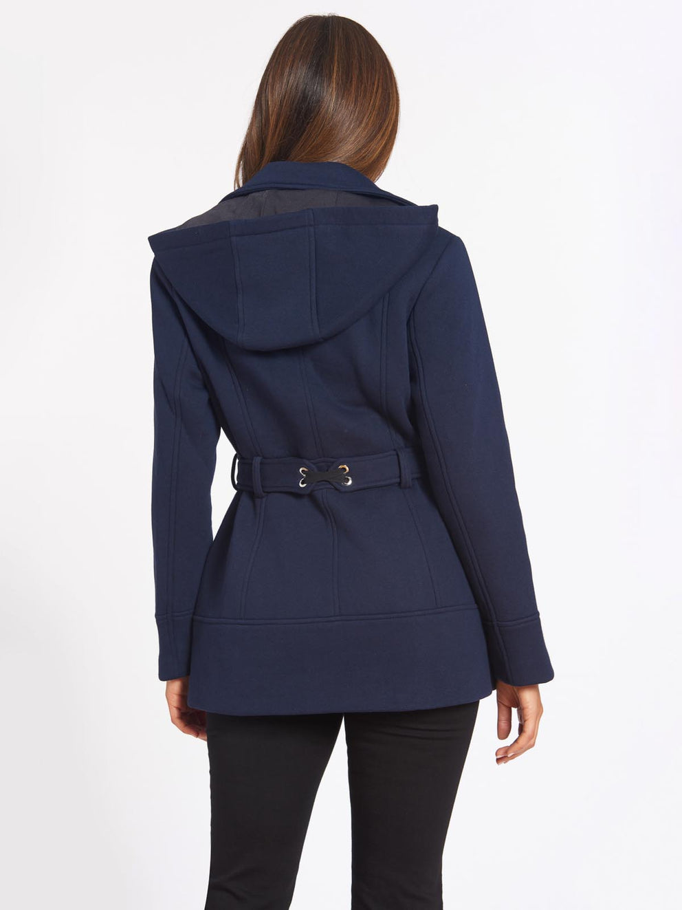 Fleece Pea Coat Color Midnight