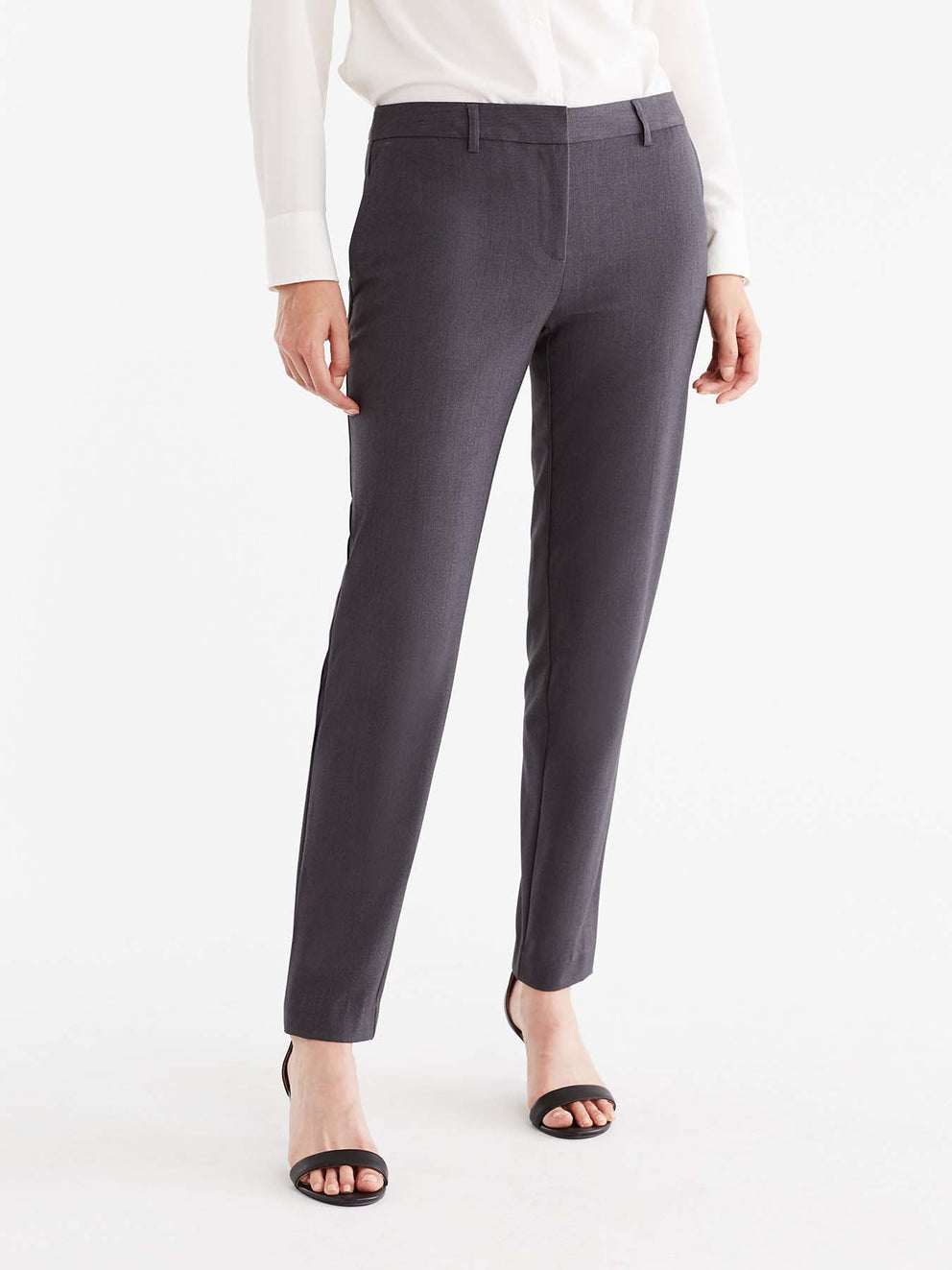 The Jones New York Grace Full-Length Pant in color Charcoal - Image Position 1