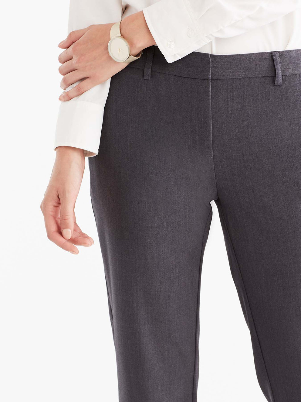 The Jones New York Grace Full-Length Pant in color Charcoal - Image Position 3