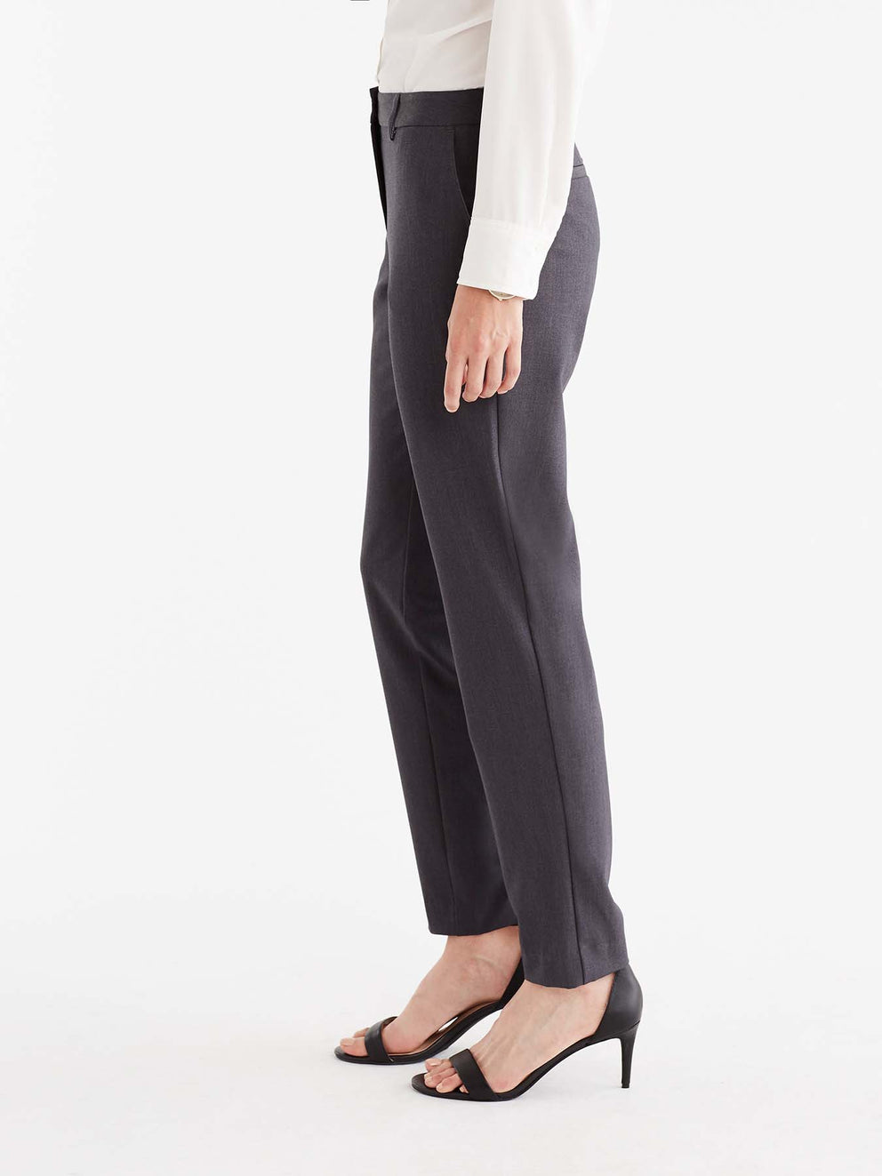 The Jones New York Grace Full-Length Pant in color Charcoal - Image Position 4