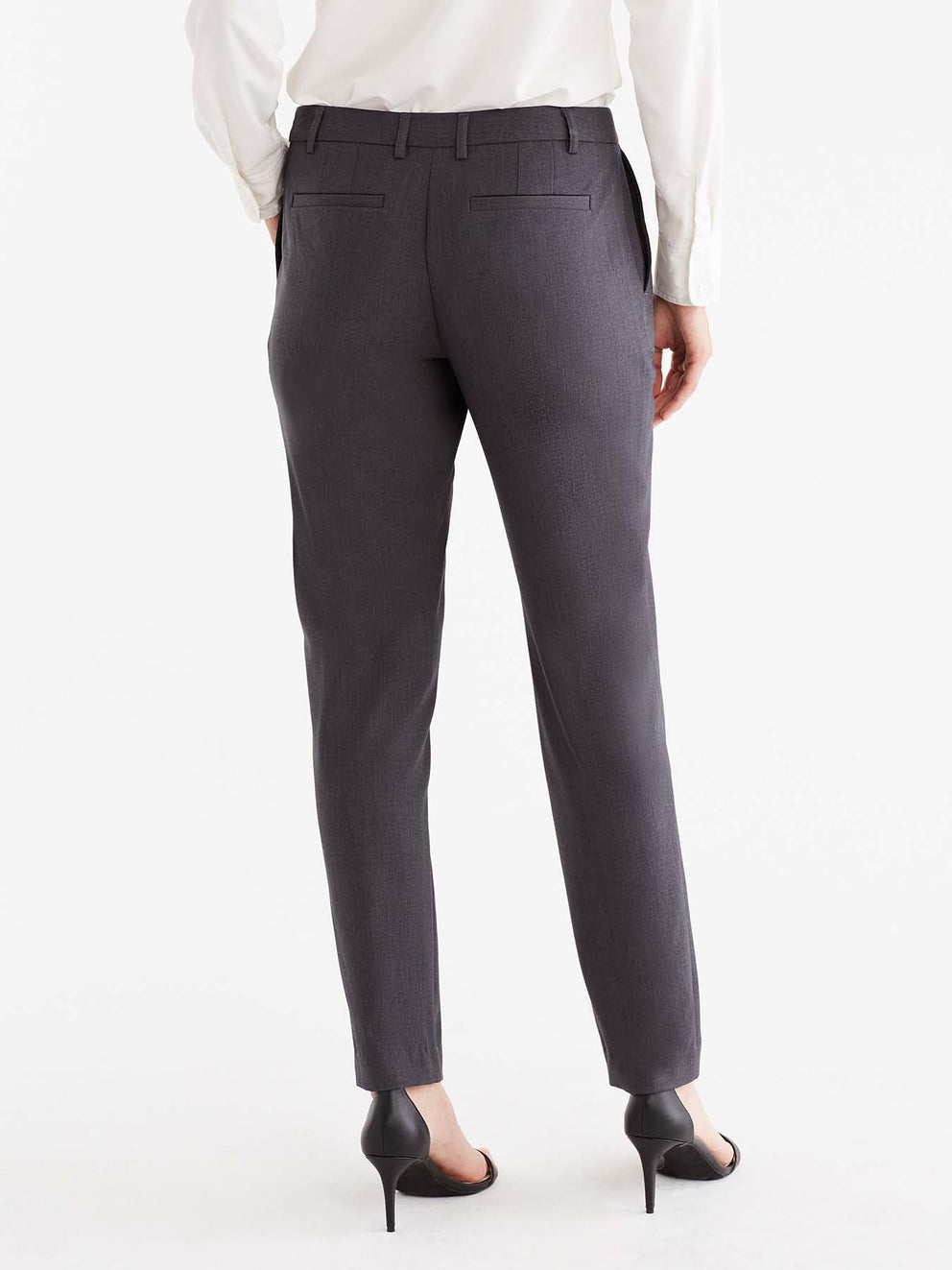 The Jones New York Grace Full-Length Pant in color Charcoal - Image Position 5