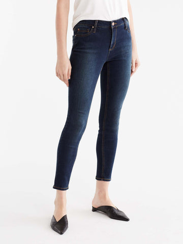 Lexington Indigo Wash Curvy Skinny Jeans, Plus Size