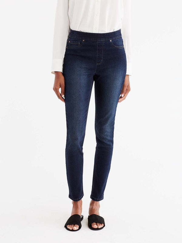 Lexington Dark Indigo Wash Pull-On Legging Color Blue