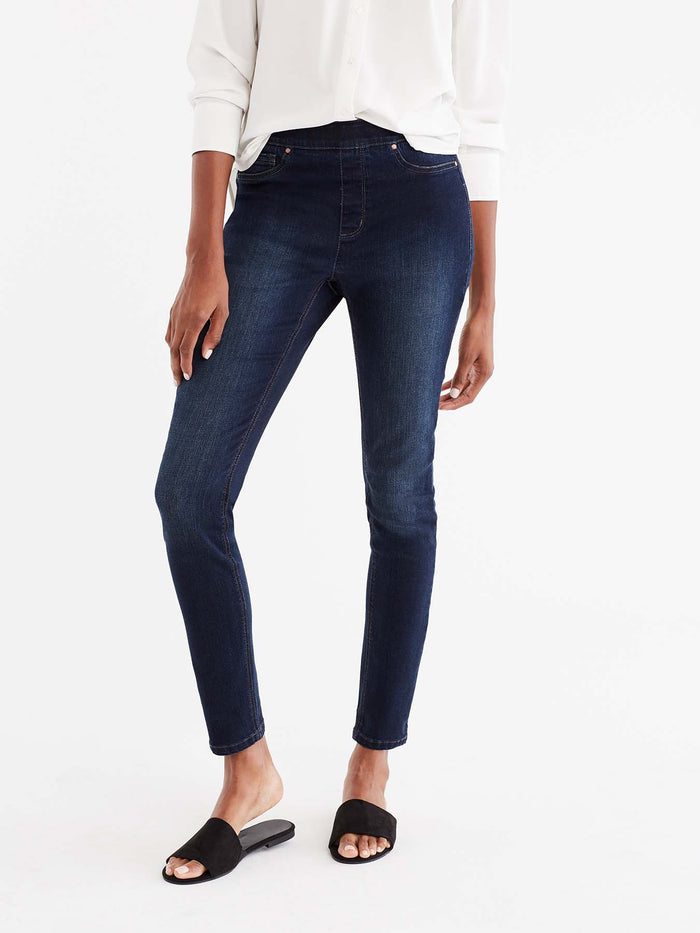 Lexington Dark Indigo Wash Pull-On Legging