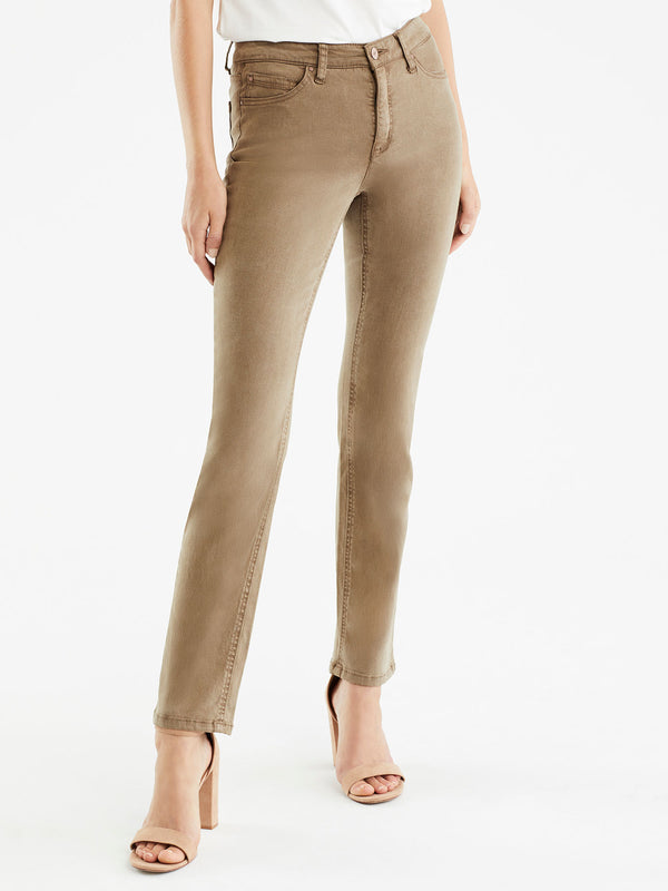 Lexington Mocha Wash Straight Leg Jeans